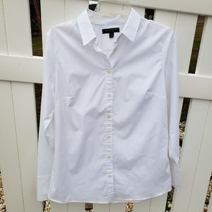 🆕 NWT Banana Republic Riley Shirt Solid White